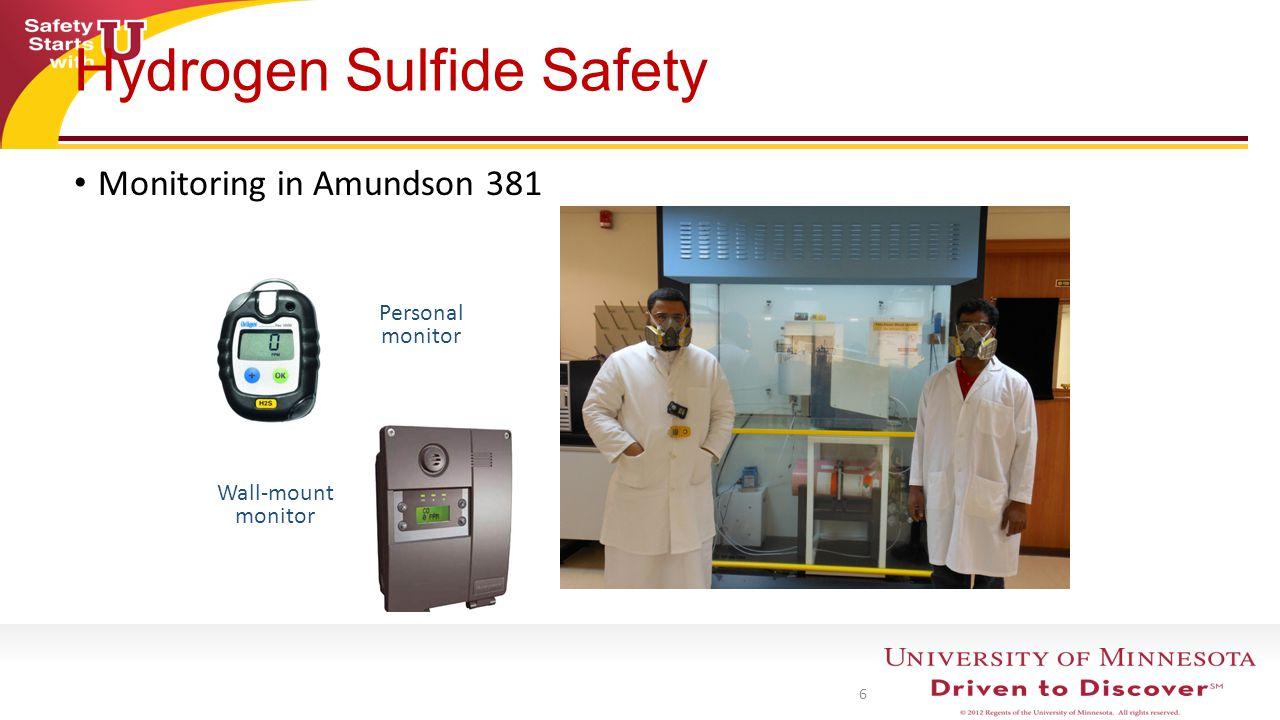 7 H2S Adsorption setup Hydrogen Sulfide Safety