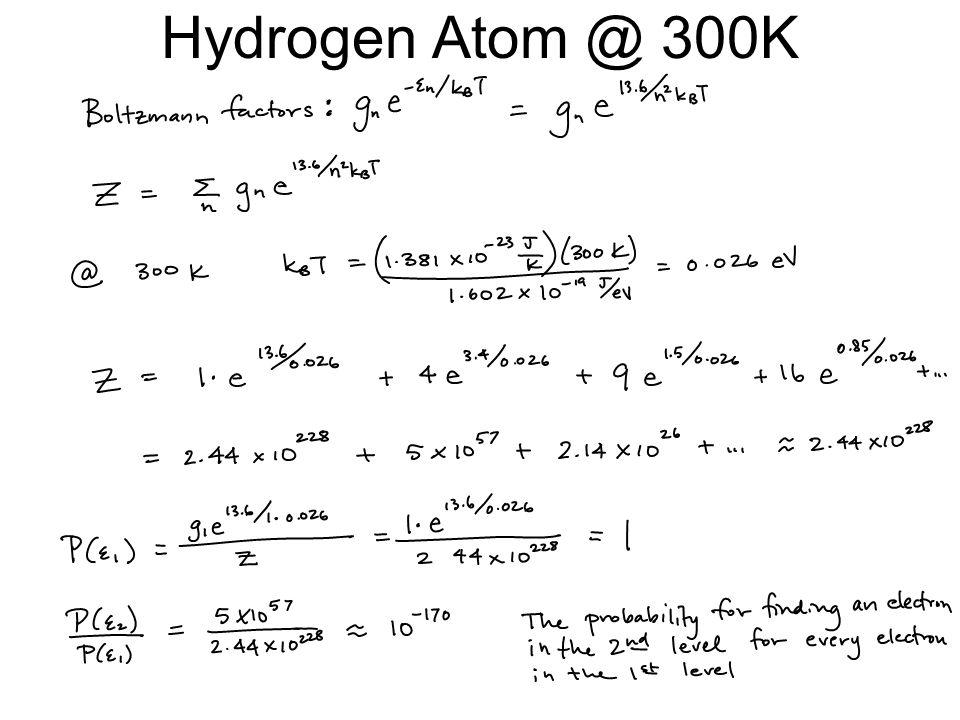 Hydrogen Atom @ 300K