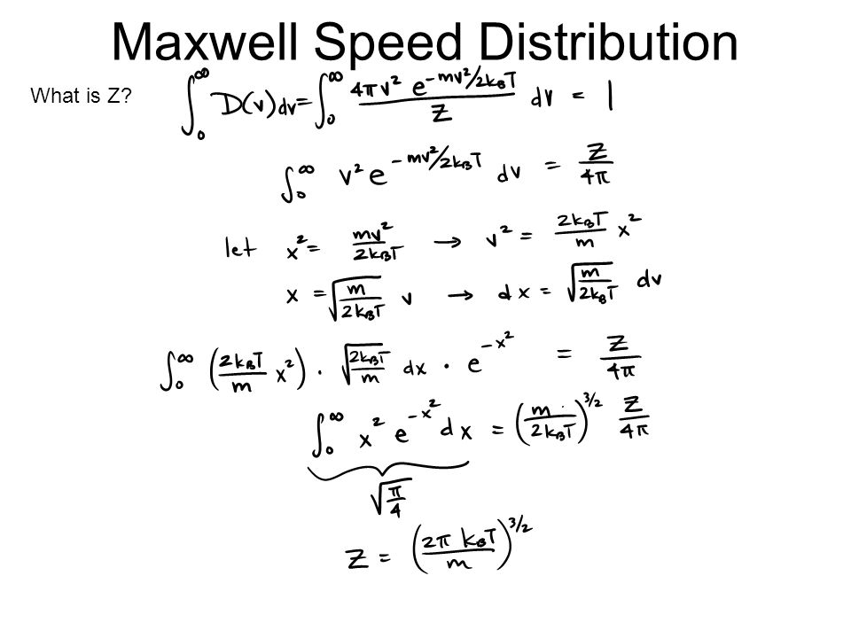 Maxwell Speed Distribution What is Z