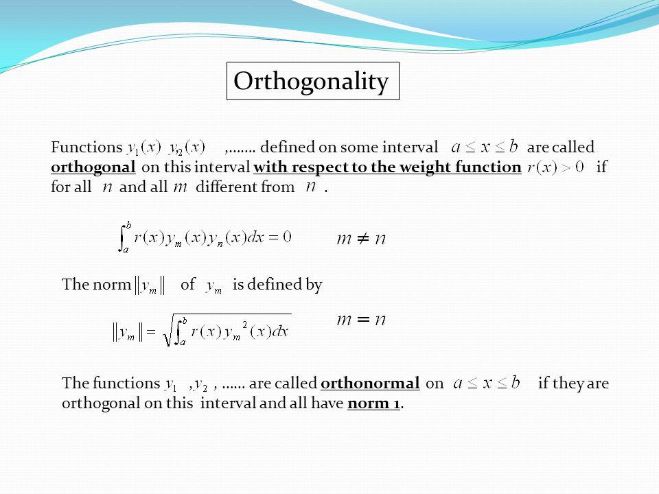 Orthogonality Functions,,…….