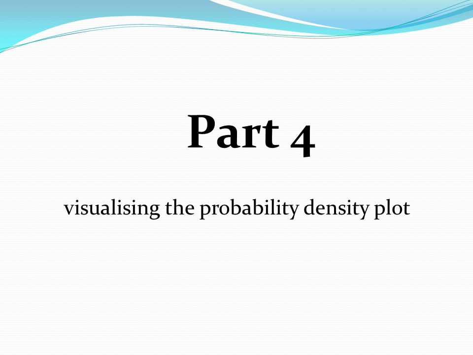 Part 4 visualising the probability density plot