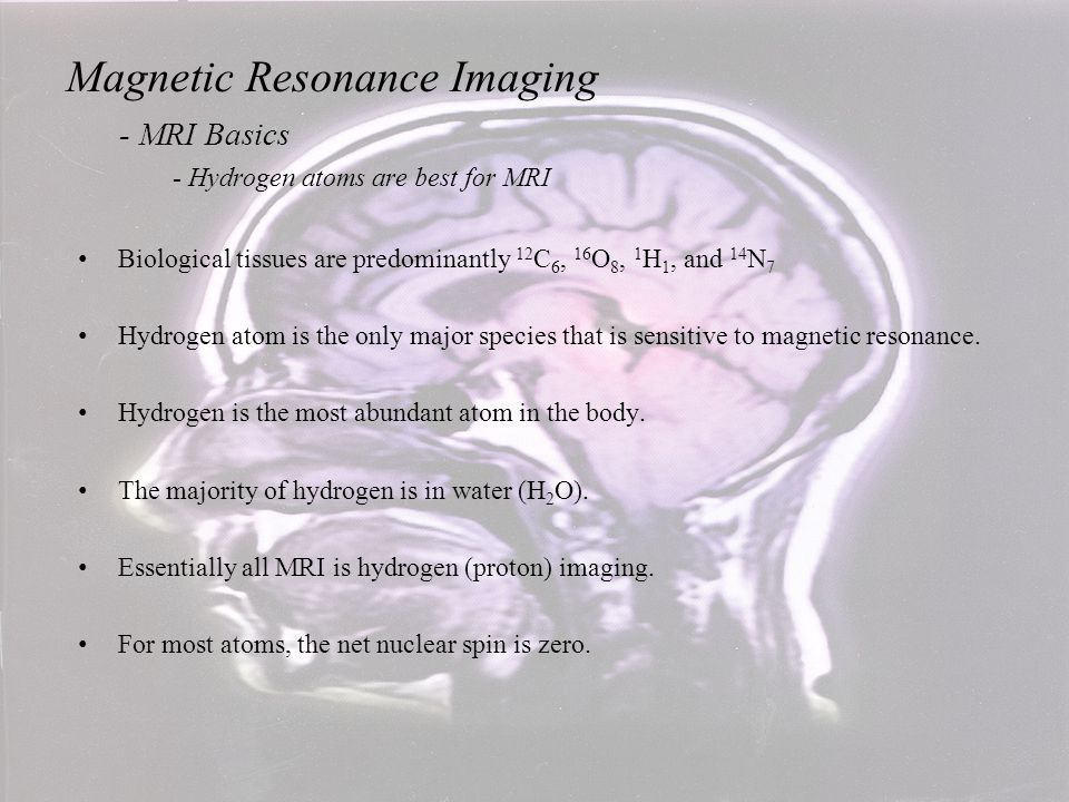 Radiation is absorbed - Energy increases Radiation is emitted - Energy decreases Lower Higher Magnetic Resonance Imaging - MRI Basics - RF Photon Energy, Absorption, Emission and Spin An Introduction to MRI Physics and Analysis Michael Jay Schillaci, PhD
