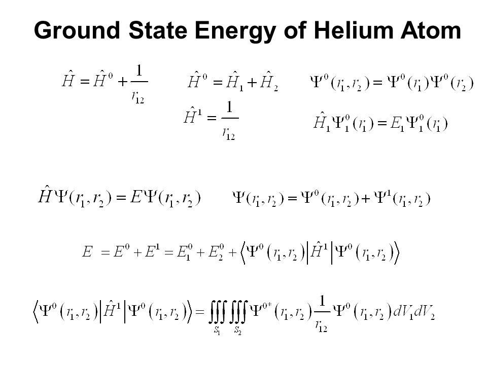 Ground State Energy of Helium Atom