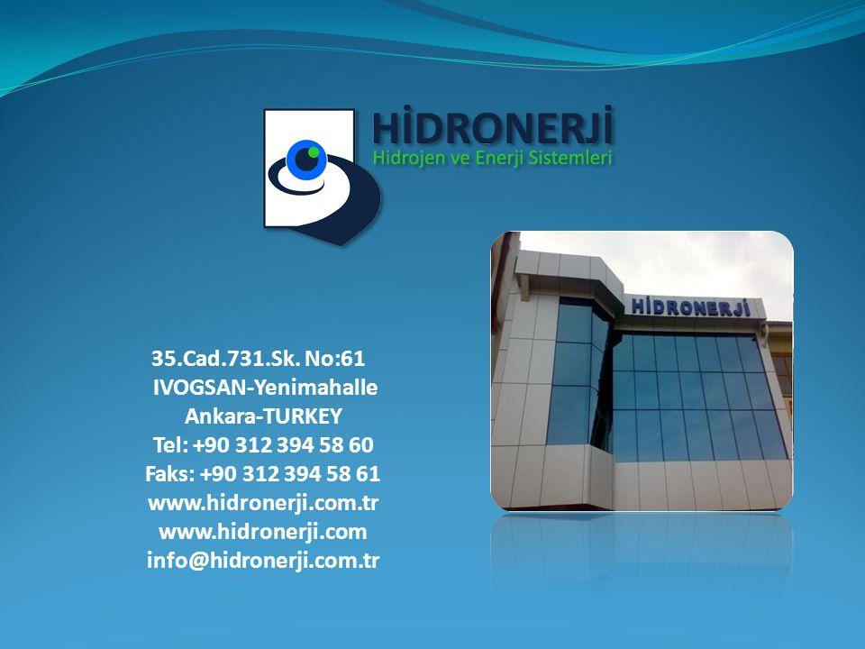 35.Cad.731.Sk. No:61 IVOGSAN-Yenimahalle Ankara-TURKEY Tel: +90 312 394 58 60 Faks: +90 312 394 58 61 www.hidronerji.com.tr www.hidronerji.com info@hi
