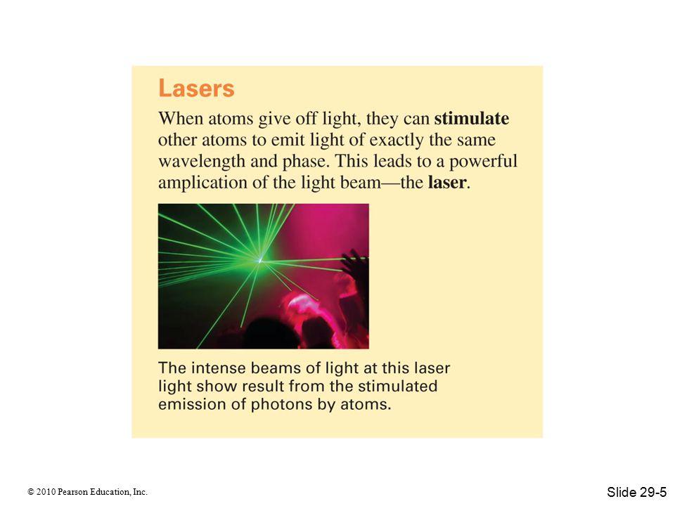 © 2010 Pearson Education, Inc. Slide 29-5