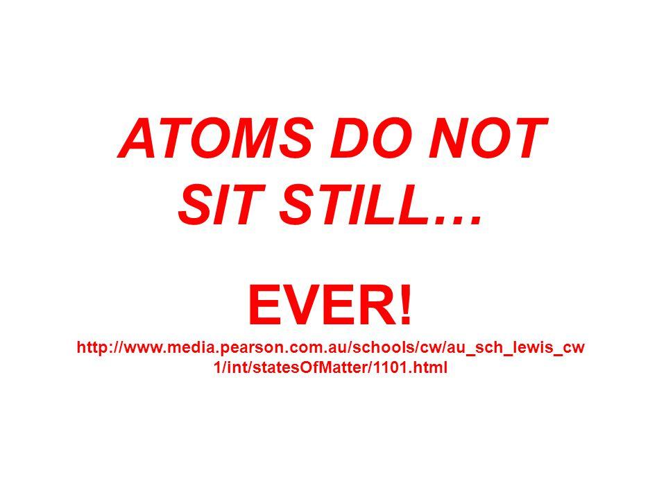 ATOMS DO NOT SIT STILL… EVER! http://www.media.pearson.com.au/schools/cw/au_sch_lewis_cw 1/int/statesOfMatter/1101.html