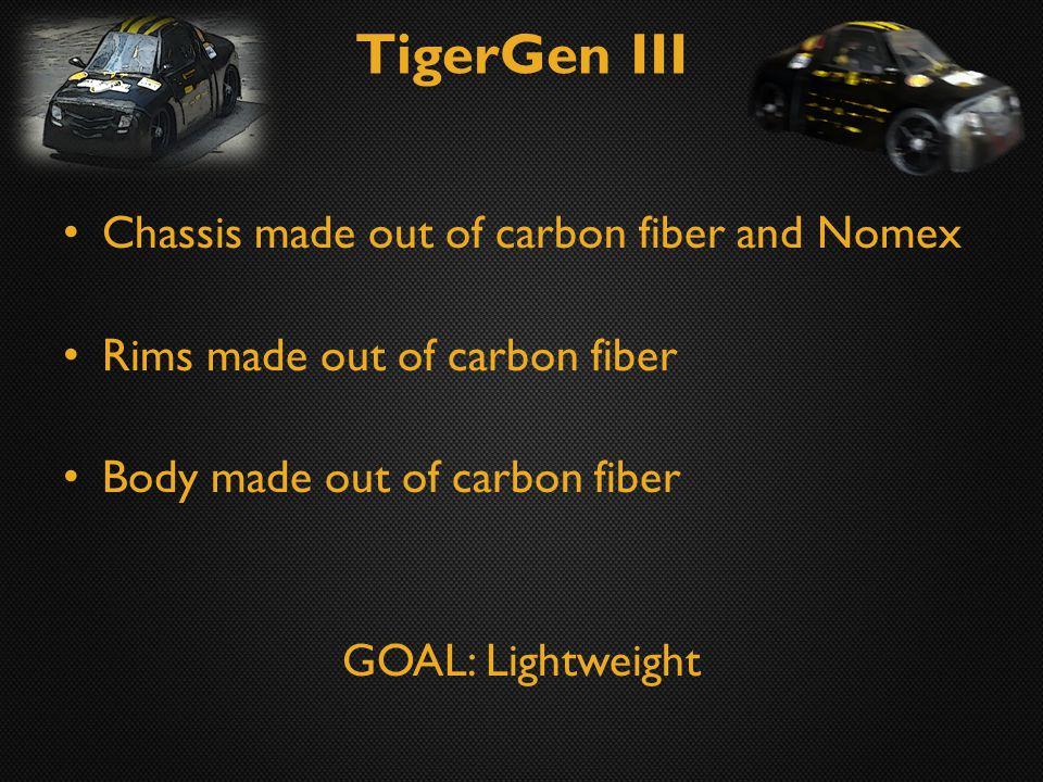 TigerGen III Efficiency: 299 mpg