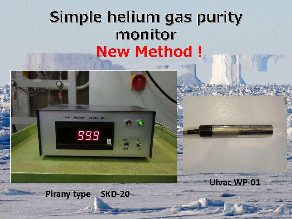 Pirany type SKD-20 New Method ! Ulvac WP-01