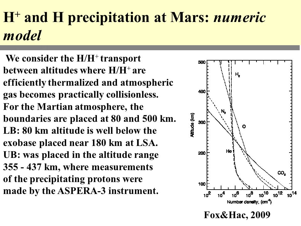 We consider the H/H + transport between altitudes where H/H + are efficiently thermalized and atmospheric gas becomes practically collisionless.