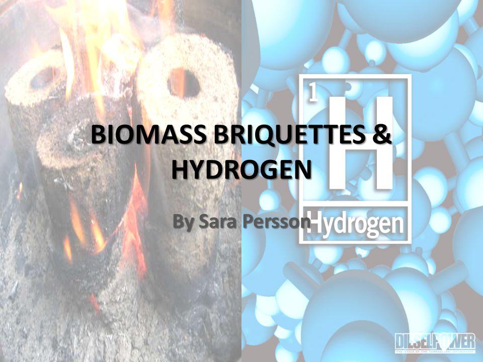 BIOMASS BRIQUETTES & HYDROGEN By Sara Persson