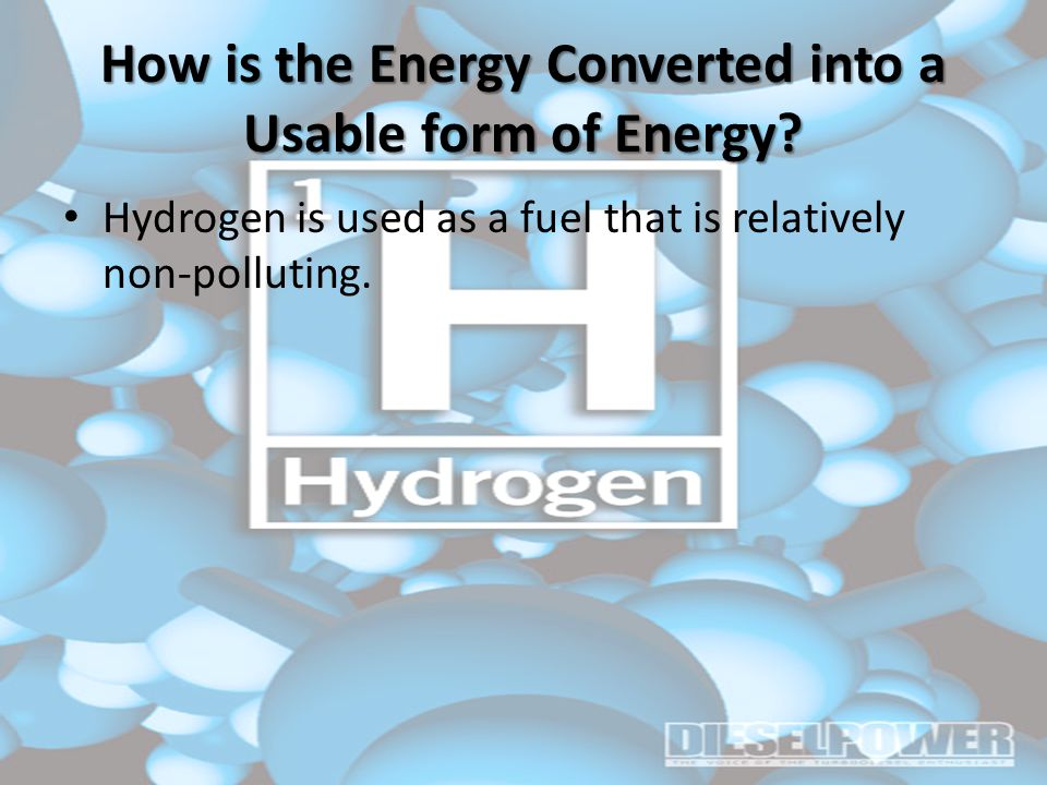 How is the Energy Converted into a Usable form of Energy.