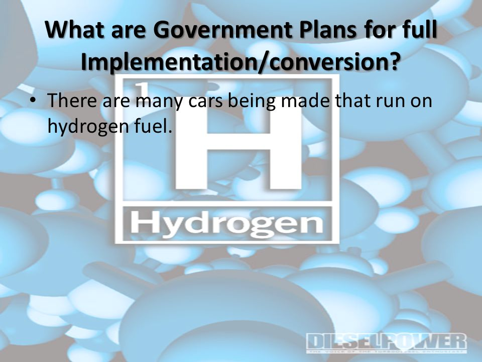 What are Government Plans for full Implementation/conversion.