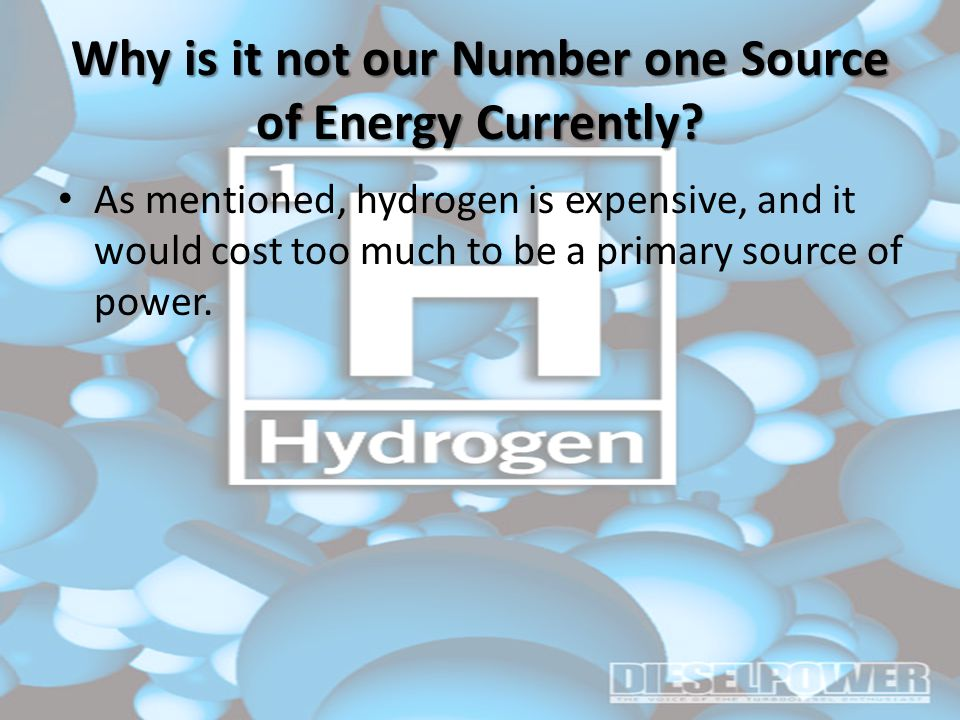 Why is it not our Number one Source of Energy Currently.