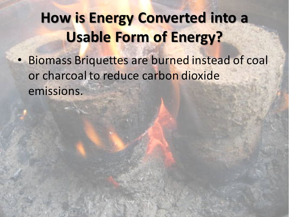 How is Energy Converted into a Usable Form of Energy.