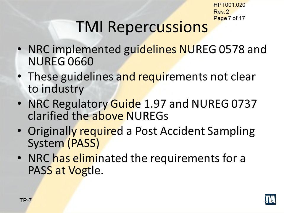 HPT001.020 Rev. 2 Page 6 of 17 TP-6 TMI 6 HL Loop 4 PRT PORV Water Steam Temperature Sensor