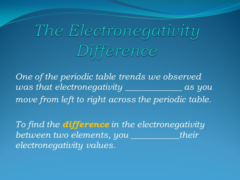 Electronegativity describes electron affinity.