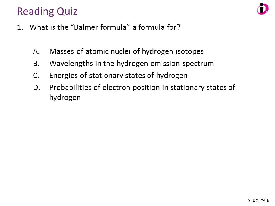 Answer 1.What is the Balmer formula a formula for.