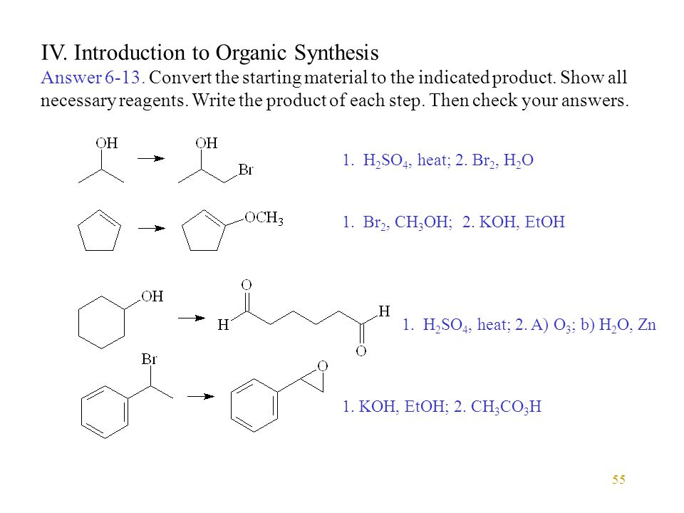 55 IV. Introduction to Organic Synthesis Answer 6-13.