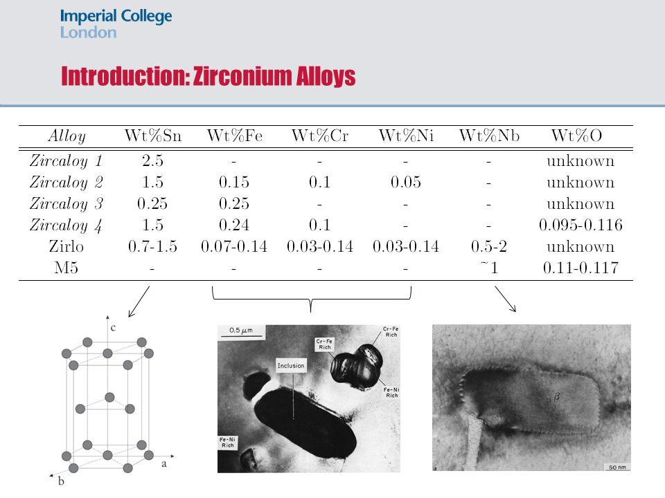 Introduction: Zirconium Alloys