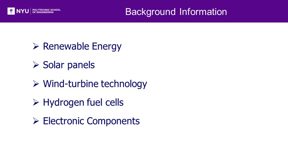 Renewable Energy  Harnessed from nature resources  Clean energy sources  Sources for energy are abundant in supply [1]