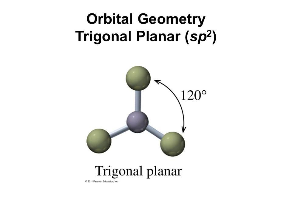 Orbital Geometry Trigonal Planar (sp 2 )