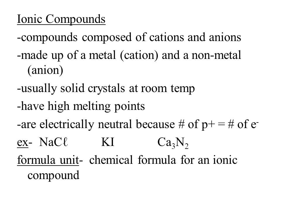 Molecular Compounds -made up of two or more non-metals Binary Molecular Compounds -made up of two non-metals Ex- CO, CO 2, CCℓ 4 -to name molecular compounds you use prefixes