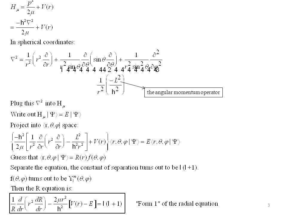 the angular momentum operator 3