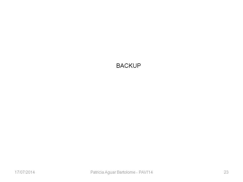 BACKUP Patricia Aguar Bartolome - PAVI 142317/07/2014