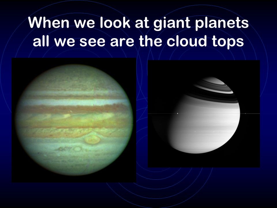 When we look at giant planets all we see are the cloud tops