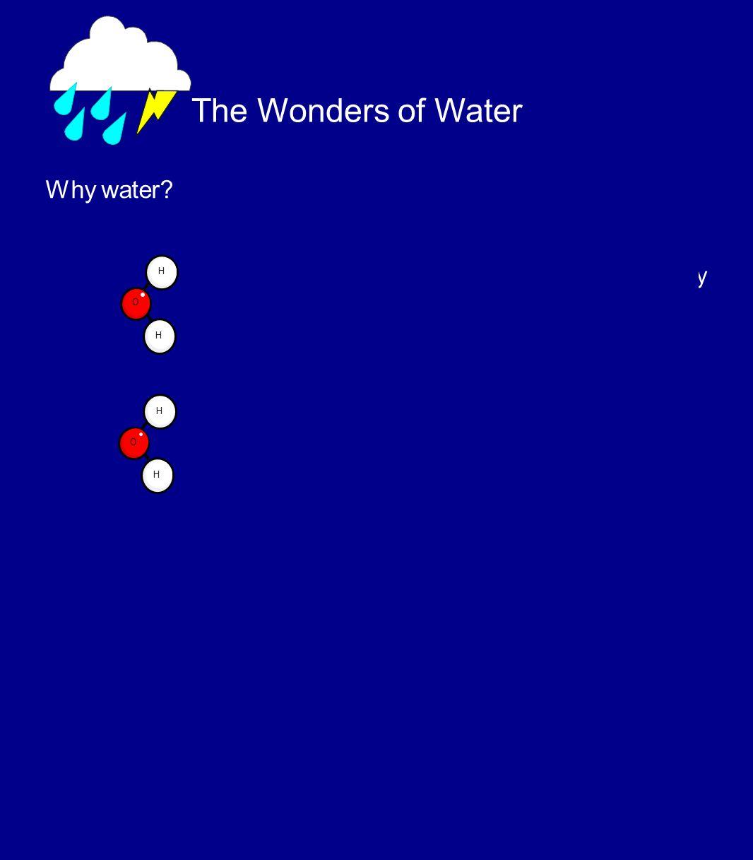 The Wonders of Water Why water.