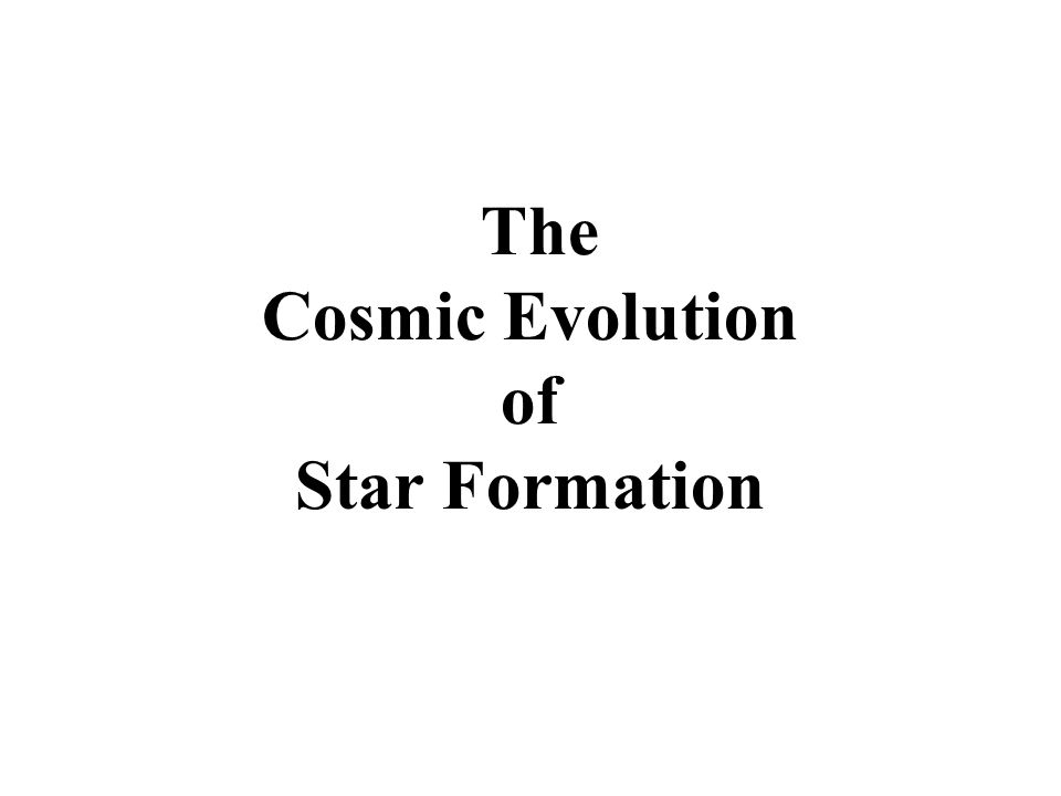 The Cosmic Evolution of Star Formation