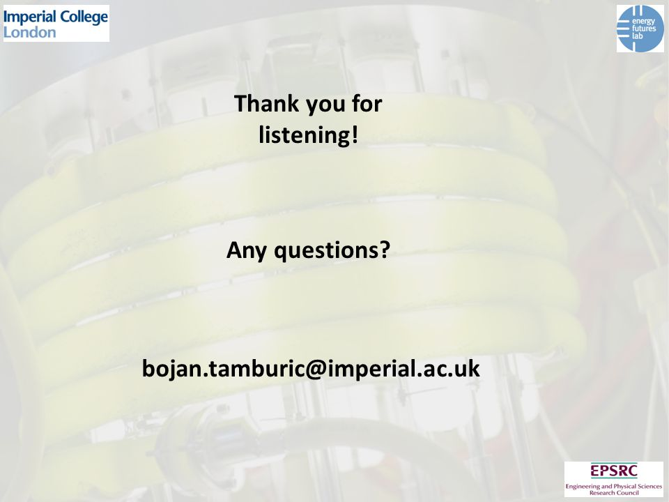 Thank you for listening! Any questions bojan.tamburic@imperial.ac.uk