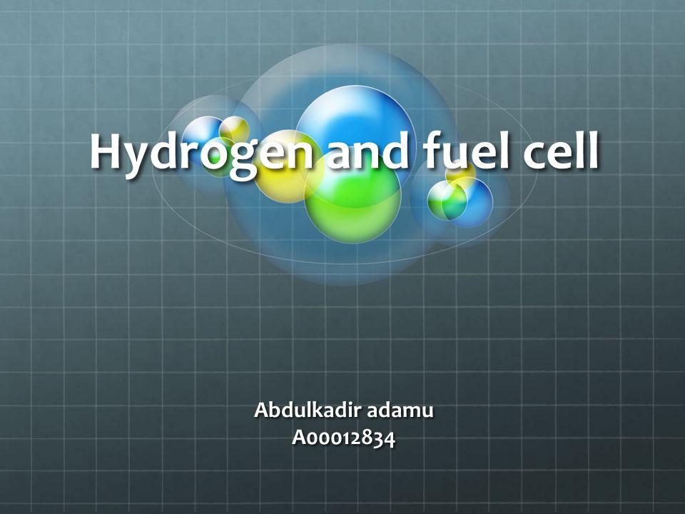 Hydrogen and fuel cell Abdulkadir adamu A00012834