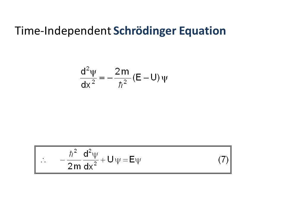 Time-Independent Schrödinger Equation