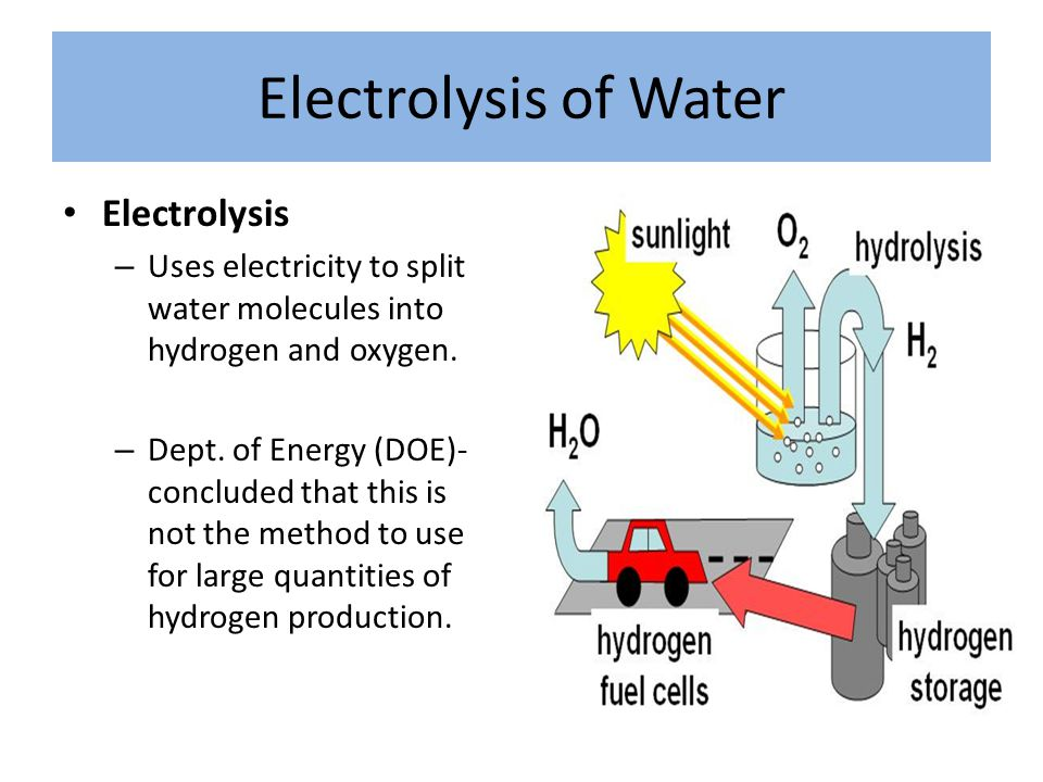 Fuel Cells Used in some cars and buses Can store hydrogen and use it to produce electricity to power the automobile