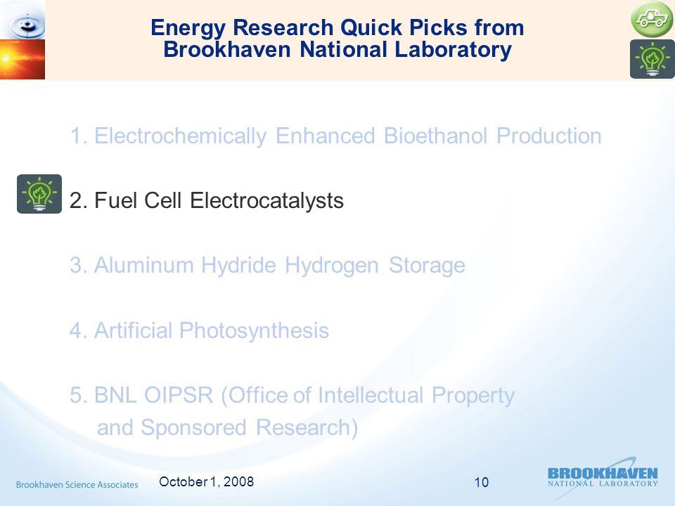 1. Electrochemically Enhanced Bioethanol Production 2.