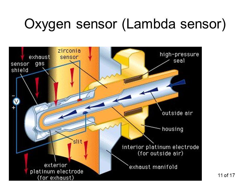 11 of 17 Oxygen sensor (Lambda sensor)