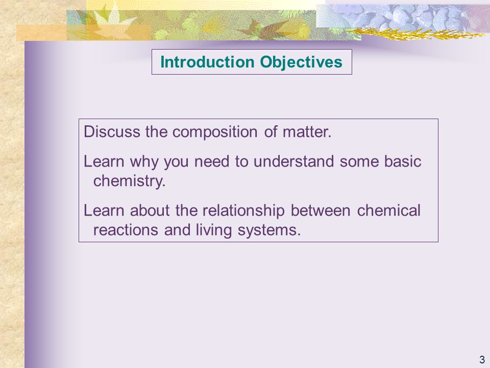54 Organic Compounds Objectives Learn the chemical characteristics of the four main classes of organic compounds: carbohydrates, lipids, proteins, and nucleic acids.