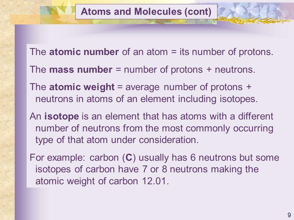 20 Atoms and Molecules (cont) Covalent bonds (cont) Fig.