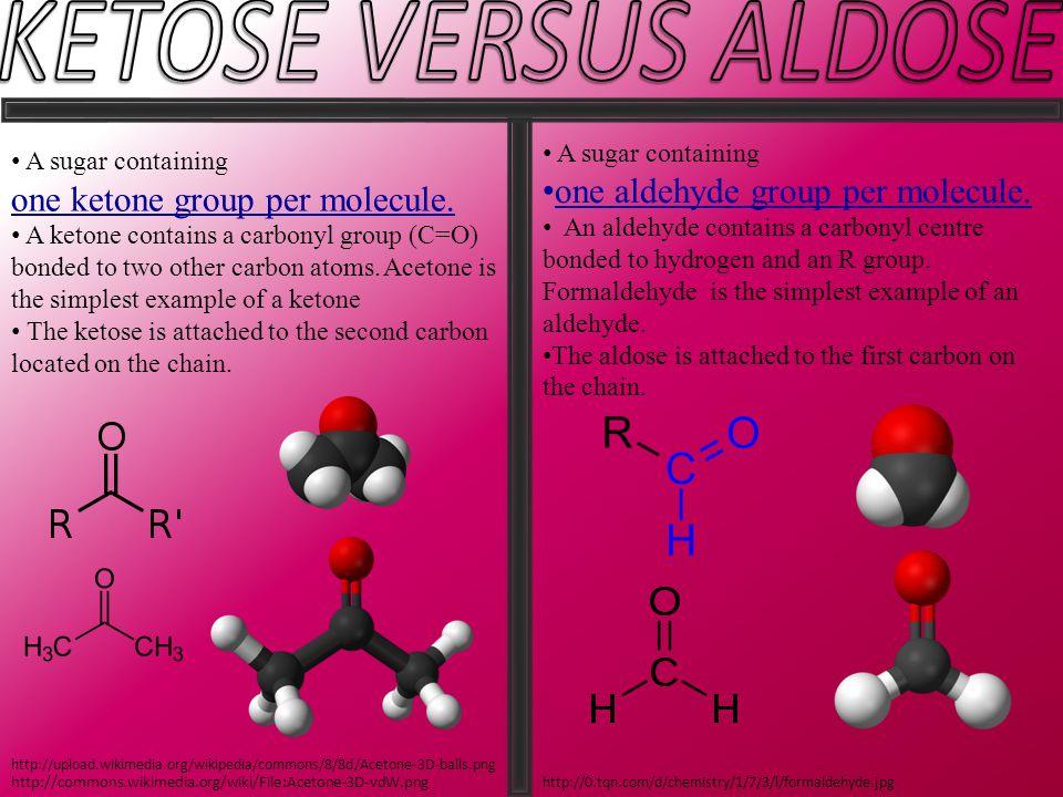 A sugar containing one ketone group per molecule.