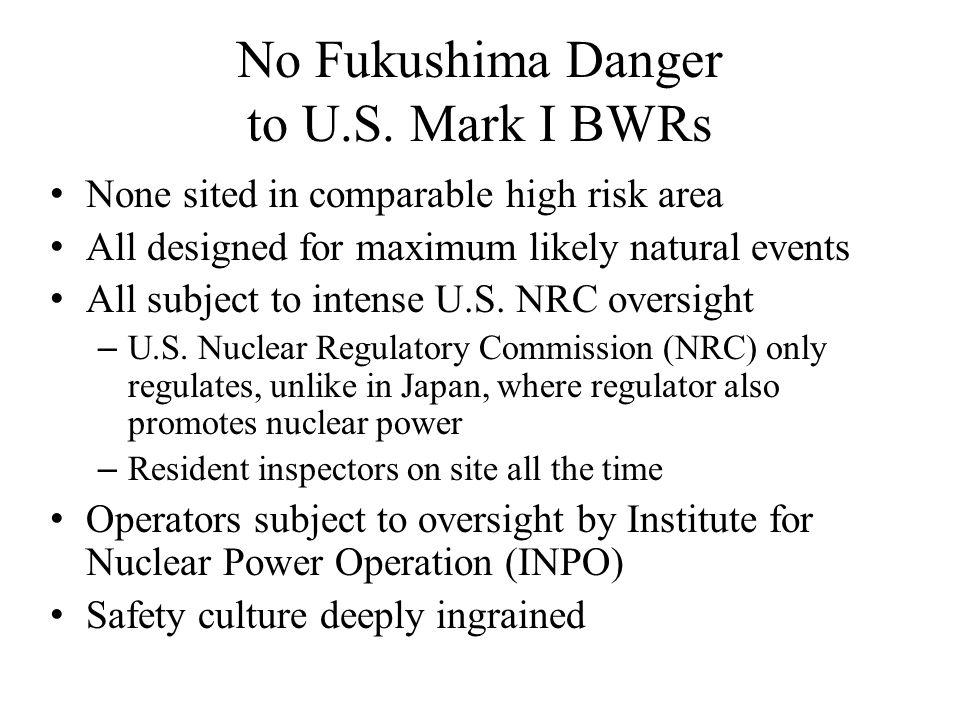 No Fukushima Danger to U.S.