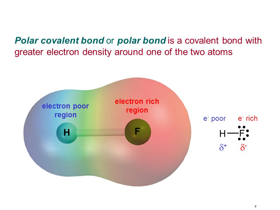 10 Electronegativity is the ability of an atom to attract toward itself the electrons in a chemical bond.