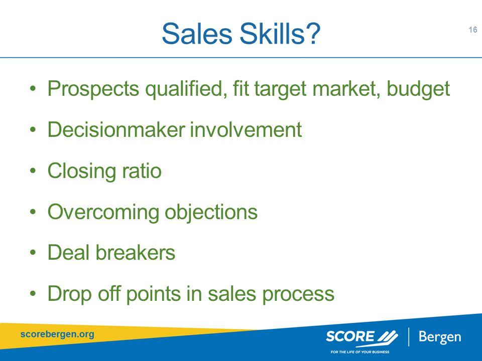 Sales Skills.
