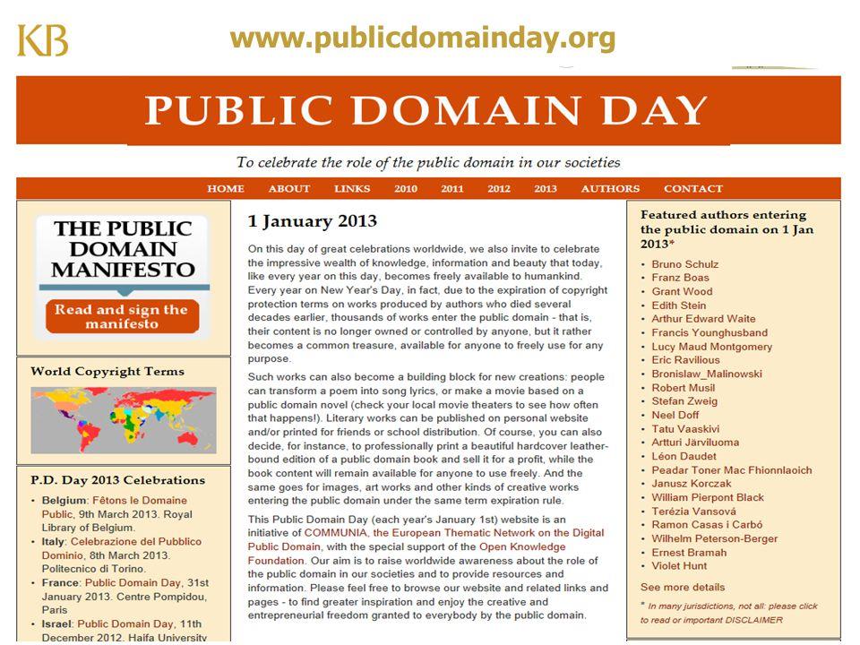 www.publicdomainday.org