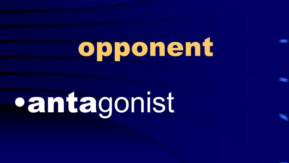 opponent anta gonist