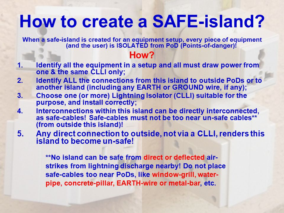 How to create a SAFE-island.