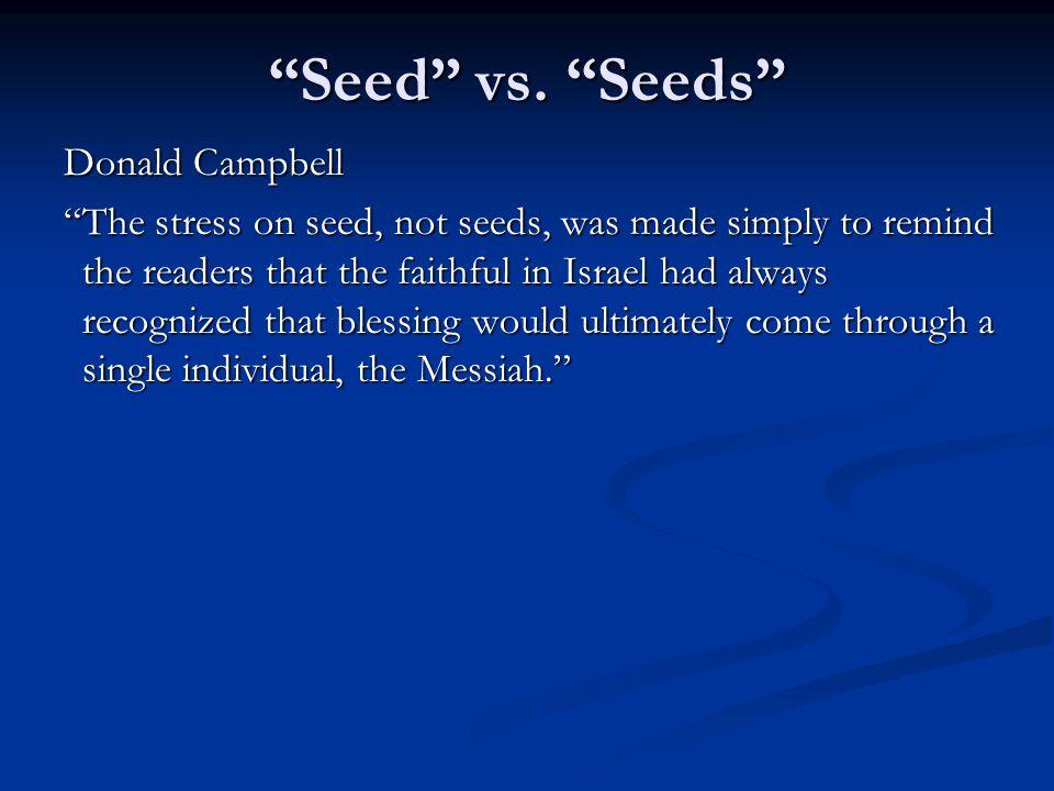 Seed vs.