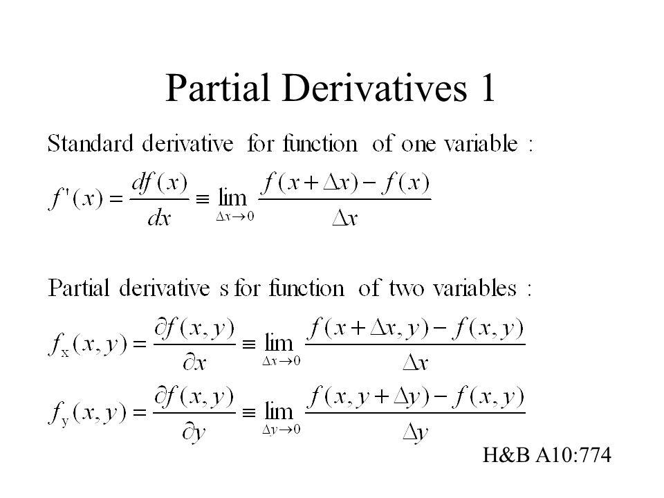 Partial Derivatives 1 H&B A10:774
