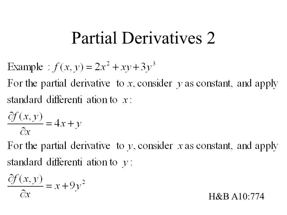 Partial Derivatives 2 H&B A10:774