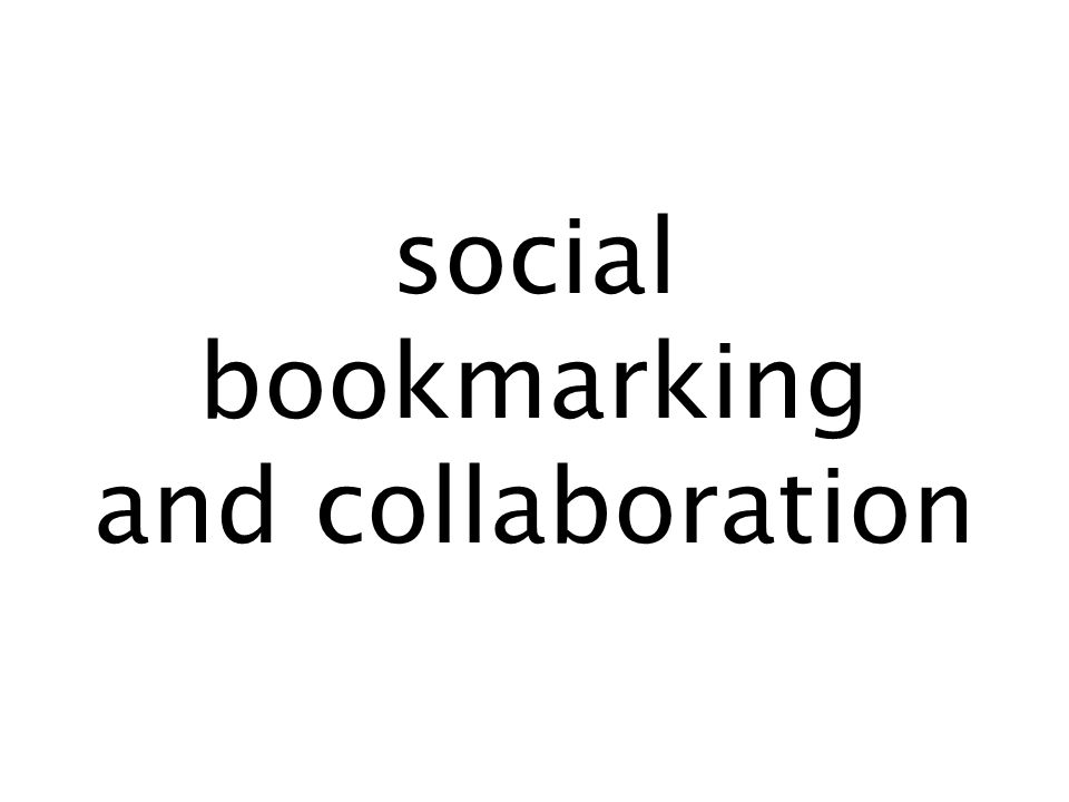 social bookmarking and collaboration